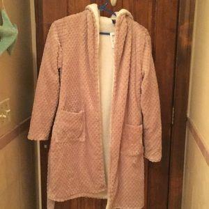 Soft tan robe size S